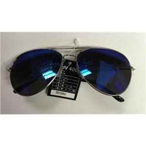 Aviator Laser Lens Blue Purple Tint Lens Shades Sunglasses UV 400