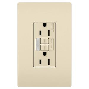 Legrand 1597NTLTRLACC4 radiant Light Almond GFCI Outlet 15A Night Light BOX of 4