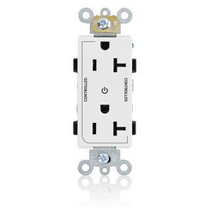 Leviton 16352-2PW Commercial Grade Outlet WHITE 20A 125V NEMA 5-20R Self Ground