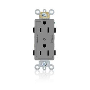 Leviton 16252-2PG Commercial Grade Outlet GRAY 20A 125V NEMA 5-20R Self Ground