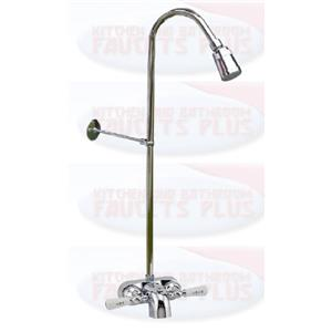 Chrome Add A Shower Faucet With Riser Kit 38 Inch X 60 Inch