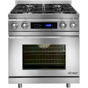 Dacor Distinctive 30 Inch Pro-Style Freestanding Dual-Fuel Range DR30DHNG