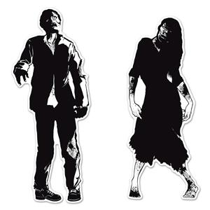 Zombie Silhouettes Halloween Hanging Door Wall Party Decoration