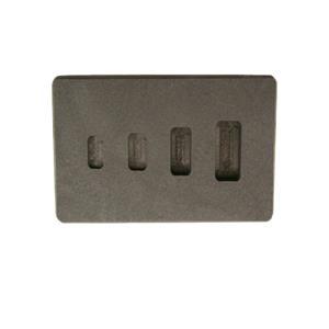 1-2-5-10 Gram High Density Graphite Gold Bar Mold 4-Cavities - Silver Copper