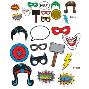 Beistle Hero 12 Piece Photo Fun Signs 6.75in x 10in Superhero Party Supplies