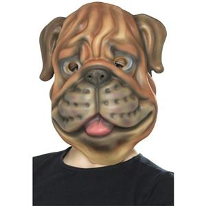 Smiffy's Dog Bulldog EVA Foam Costume Animal Mask One Size Fits Most