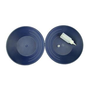 Lot of 2 Blue Gold Pans w/ Bottle Snuffer-Panning Kit-Mining-Prospecting