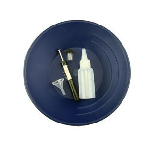 "10"" Blue Gold Pan Kit  w/ Bottle Snuffer-Magnet-Vial-Funnel-Mining Panning ***"