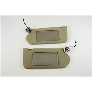 Chevrolet Impala Sun Visor Set 2000-2005 Lighted Mirrors, Extension Panels