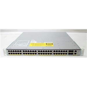 Cisco WS-C4948E Catalyst 4948 48-Port 10/100/1000 4 SFP Switch w Dual PSU