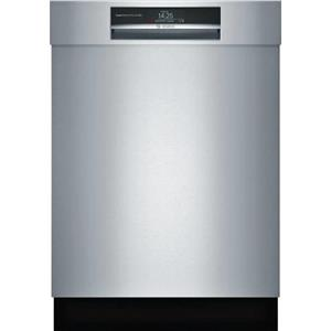 Bosch 800 Series 24 in 42 dBA Home Connect Semi-Integrated Dishwasher SHEM78WH5N