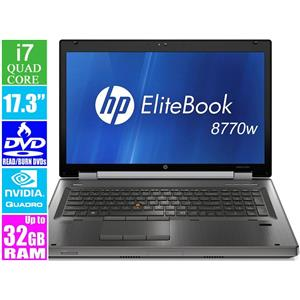 "HP EliteBook 8770w, i7 2.6GHz 17.3"" Laptop"