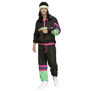 Fun World Male 80's Retro Sweat Track Suit Adult Mens Costume Standard Size
