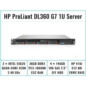 HP ProLiant DL360 G7 1U Server 2xQuad-Core Xeon 2.4GHz + 36GB RAM + 4x146GB SAS