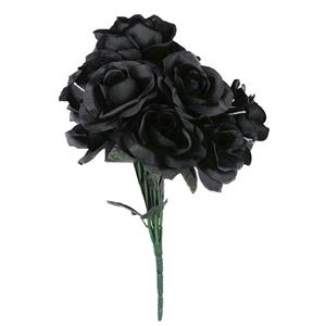 Black Rose Bouquet Black Fake Dead Flowers
