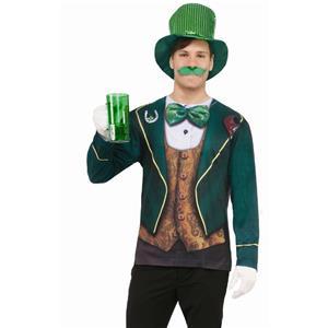 Men's Realistic Instantly Irish Male Sublimation T-Shirt Adult Sz Large St Patty