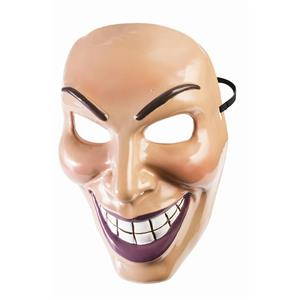 Male Evil Grin Mask Purge Half Costume Accessory PVC Mans Revenge Smile