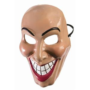 Female Evil Grin Mask Purge Half Costume Accessory PVC Womens Revenge Smile