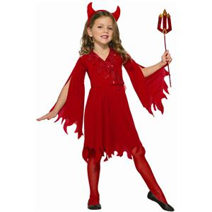 Forum Novelties Kids Delightful Devil Girl Value Costume Small 4-6