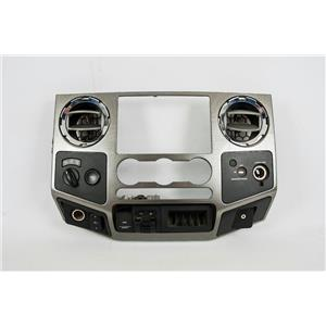 08-2010 Ford F250 F350 FX4 Radio Auto Climate Center Dash Bezel Chrome Vents 4WD