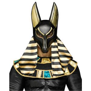 Fun World Mythical Creature Anubis Mask Men's Black Royal Dog Egyptian Roman