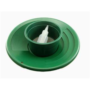"12"" Green Gold Pan 5""  #10 Mesh Screen & Bottle Snuffer-Panning Kit-Prospecting"