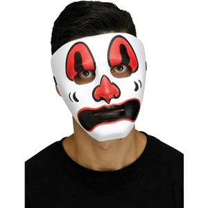 Black Red and White Voodoo Clown Costume Mask