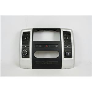 10-12 Dodge Ram 2500 Center Dash Radio Climate Bezel w/ Vents 4wd & 115V Outlet