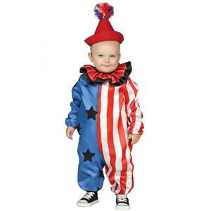 Fun World Happy Clown Toddler Costume Large 3T-4T Jumpsuit and Hat