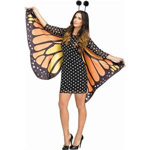 Fun World Women's Fluttery Monarch Butterfly Adult Costume S/M 2-8