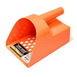 ORANGE Plastic Metal Detector Scoop-Sand-Beach-Treasure Gold Ring Tough Durable