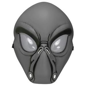 Fun World Gray Alien Face Plastic Character Costume Mask