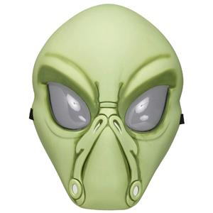 Fun World Green Alien Face Plastic Character Costume Mask