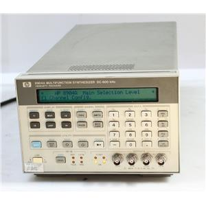 HP/Agilent 8904A DC-600kHz Multifunction Synthesizer / Generator OPT 002 005