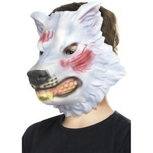 Smiffy's Gray Wolf EVA Foam Costume Animal Mask One Size Fits Most