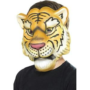 Smiffy's Tiger EVA Foam Costume Animal Mask One Size Fits Most