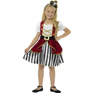 Smiffy's Girls Deluxe Pirate Girl Fancy Dress Child Costume Sz Large