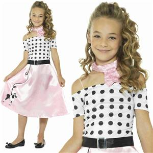 Smiffy's 50's Poodle Girl Child Costume Sz Large