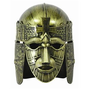 Forum Halloween Cosplay Gold Full Face Medieval Warrior Costume Helmet Mask