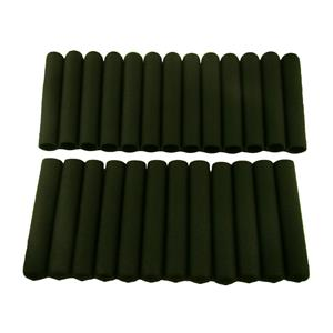 """Lot of 25 Black Soft Grips - Designed for 3/4"""" Handles - Wall Thickness 1/8"""""""