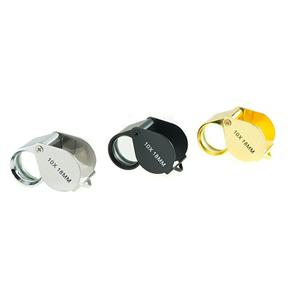 3 Pc 10x18MM Jewelers Loupe Set - Silver, Gold, Black Plated