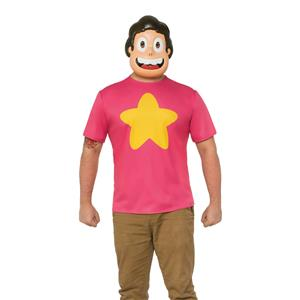 Steven Universe Adult Costume with Belly Button Gem Small 34-36