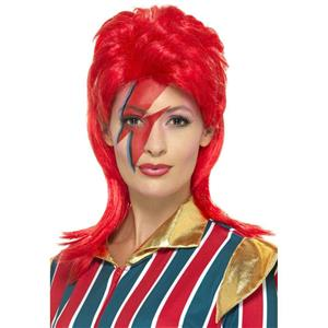 Smiffy's Red 80s Artist Space Superstar Bowie Costume Wig
