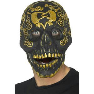 Smiffy's Deluxe Masquerade Skull Mask Foam Latex Halloween Costume Accessory