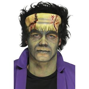 Foam Latex Green Monster Head Prosthetic Halloween Costume Accessory w Adhesive