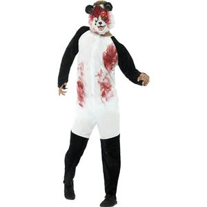 Smiffy's Men's Deluxe Zombie Panda Adult Costume and Mask Size Large Gory