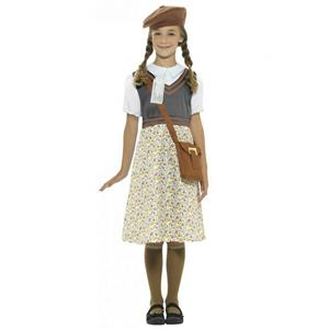 Smiffy's Evacuee School Girl Child Costume Sz Small