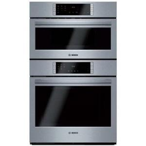 "Bosch 800 Series 30"" 1000W QuietClose Speed Combination Oven HBL8752UC IMGS"