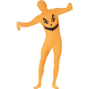 Pumpkin Second Skin Adult Costume Size Medium