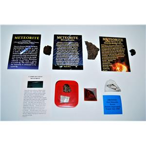 METEORITE Lot of 6 -Various Locations GREAT for TEACHERS & Collectors #13389 11o